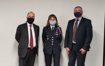 vendredi 26 février, à lissue du CASDIS, les autorités ont salué le départ de la colonelle Lamaire